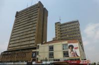 Die Skyline von Lusaka ist nicht wirklich schön.