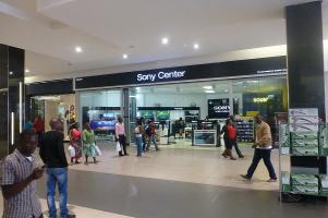 ... das gibt es nicht nur in Berlin, sondern auch in der Levy Mall in Lusaka
