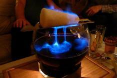 Auch wenn es Silvester nicht so kalt war, die Feuerzangenbowle schmeckte fantastisch.