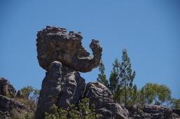 ... und bizarre Felsformationen sehen wir am Bainskloof Pass.