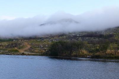 Die Wolken kommen über die Berge, es wird Zeit für den Rückweg.