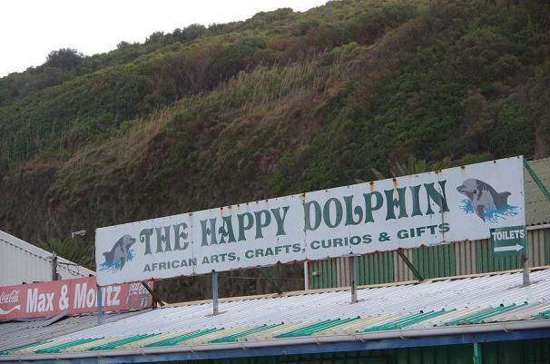 Im Hafen von Hout Bay wohnen Max und Moritz direkt neben dem glücklichen Delphin.