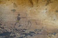 In den Höhlen und Felsüberhängen der Cederberge findet sich manche, mehrere tausend Jahre alte, Bushmannzeichnung.