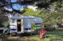 Über zwei Wochen verbrachten wir auf dem Campingplatz in Kapstadt...