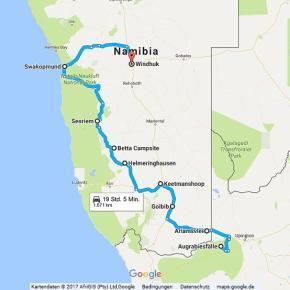 Statistik Namibia, Teil 17 (Upington - Windhoek)