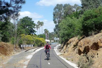 ... ist heute ein schöner Radweg durch das Barossa-Tal entstanden.