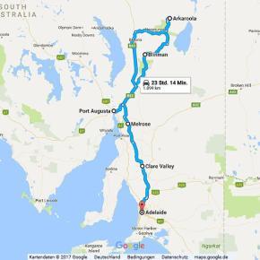 Statistik Australien Teil 5, Port Augusta - Adelaide, Flinders Range