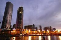 An Melbournes Waterfront gibt es allabendlich ein flammendes Spektakel.