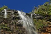 In etwas abgelegeneren Ecken gibt es nicht minder schöne Motive, wie hier die Wentworth Falls.