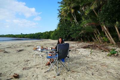 Es ist angerichtet – Strandfrühstück am Cape Tribulation