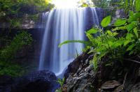 Und schließlich fand sich doch ein ruhiges Plätzchen für ein Foto am Zillie-Wasserfall