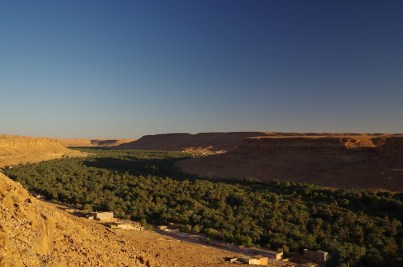 Dutzende von Kilometern zieht sich die grüne Oase durch das Tal des Oued Ziz.