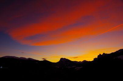 S004 Sonnenuntergang an den Geisslerspitzen/Südtirol
