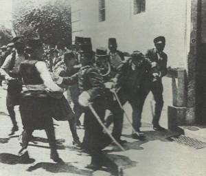 Attentäter Princip wird verhaftet