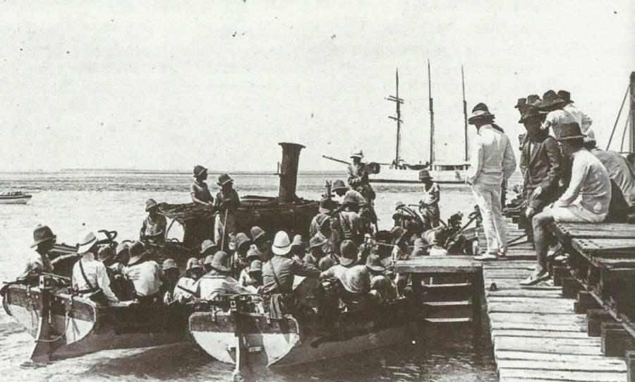 Entkommen der Landungsmannschaft der Emden