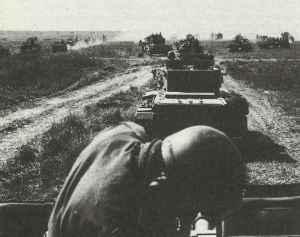 Britischer Panzerdivision formiert sich zum Angriff