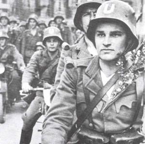 kroatische Ustascha-Soldaten.