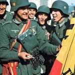 Spanische Soldaten der Blauen Division an der Ostfront