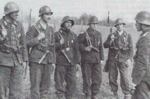 Bulgarische Fallschirmjäger in Makedonien, 1943.