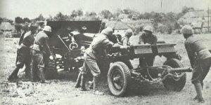 Stellungswechsel slowakischer Artillerie