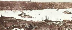Kreuzer Breslau in Konstantinopel