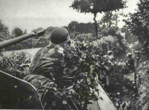 Deutsche Flak auf Selbstfahrlafette in der Normandie