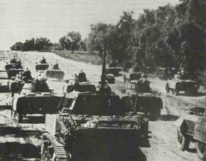 Französische Panzerdivision in Südfrankreich
