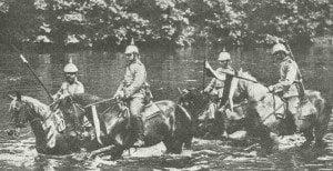 Deutsche Kürassier-Patrouille in Ostpreußen