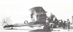 Gloster Gladiator Doppeldecker-Jagdflugzeuge