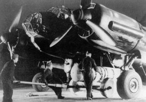 Ju 88 A-4 während einer der Steinbock-Operationen Anfang 1944