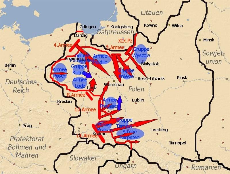 der Polenfeldzug vom 8. bis 15. September 1939.