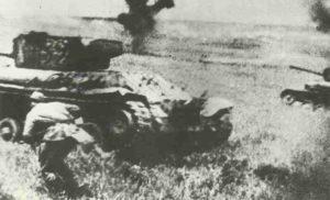 KW-Panzer im Kampf mit SS-Div. Wiking vor Warschau