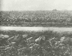 Britische Soldaten gehen in Deckung