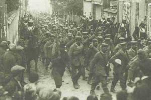 Deutsche Gefangene an der Marne