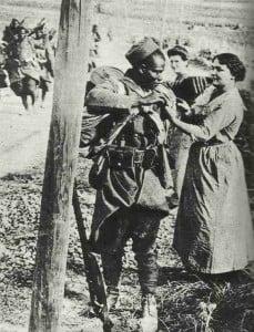 Farbiger französischer Soldat 1914