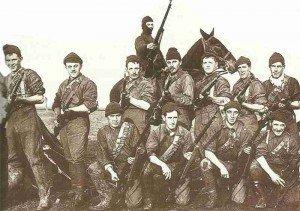 Kanadische Rekruten im Trainingscamp 1914