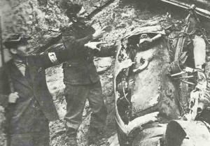 Trümmer He 111 Bomber in Warschau