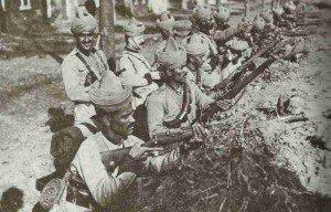 Indische Soldaten bei Ypern 1914