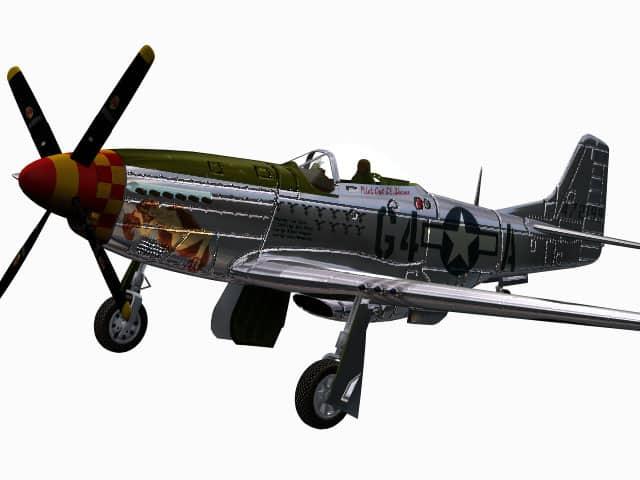 3D-Modell P-51 D Mustang