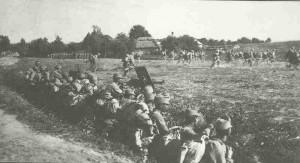 Österreich-ungarischer Sturmangriff in Galizien