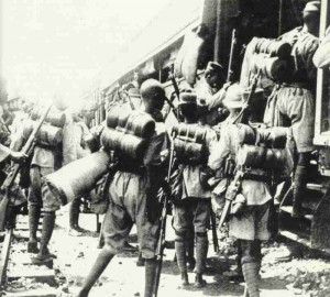 Truppen eines nigerianischen Regiments