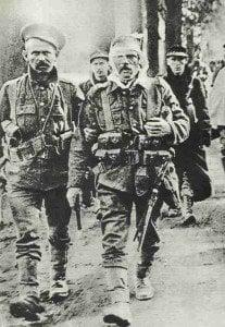 Verwundeter britischer Soldat