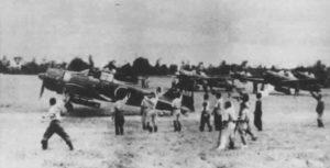 Start zum ersten erfolgreichen Kamikaze-Angriff