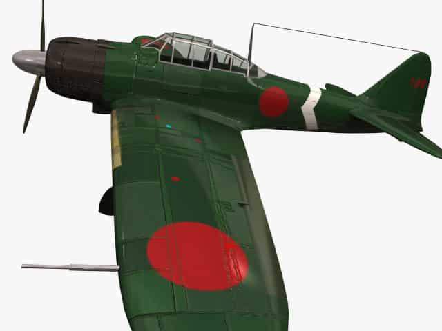 3D-Modell Mitsubishi A6M5 Reisen