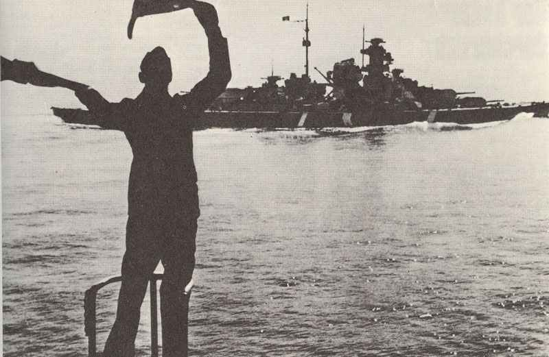 Schlachtschiff Bismarck verlässt Bergen