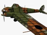 3D-Modell Heinkel He 111