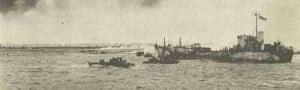 englische Landungsschiffe vor Walcheren