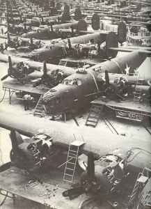 Fliessbandproduktion B-24 Liberator