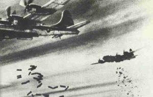Bombenabwurf von B-29