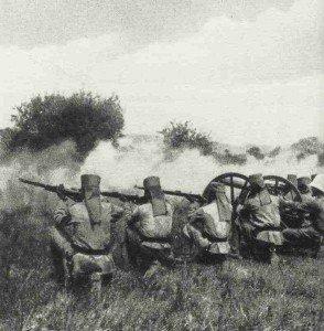 Schutztruppe Ostafrika im Gefecht